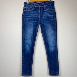 EXPRESS MID-RISE SKINNY JEANS DARK WASH SIZE 8